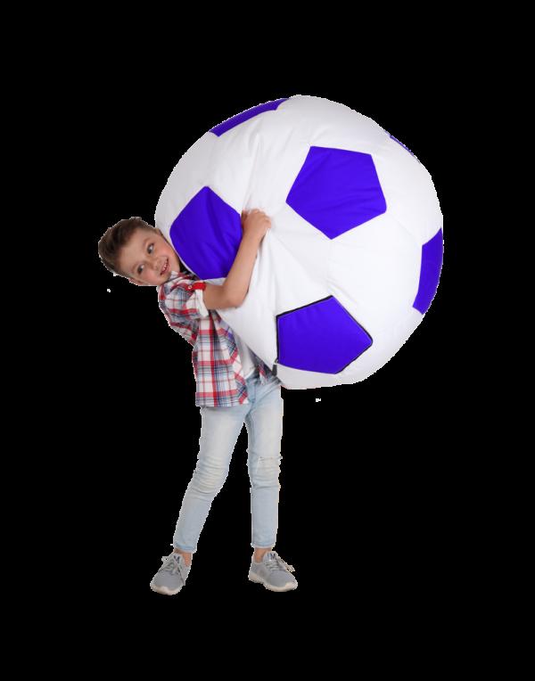 Кресло-мяч средний, белый с синим