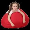 Кресло-груша средняя, красная