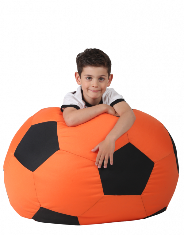 Кресло-мяч средний, оранжевый с черным