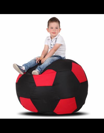 Кресло-мяч детский, черный с красным
