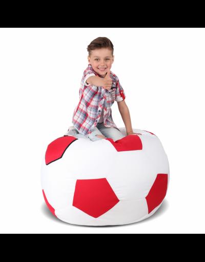 Кресло-мяч детский, белый с красным