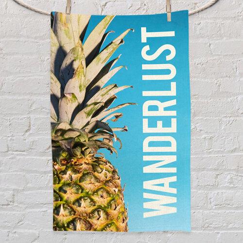 Полотенце маленькое с принтом «Wanderlust pineapple»