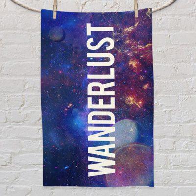 Полотенце маленькое с принтом «Wanderlust space»