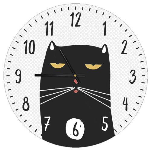 Часы настенные Черный кот