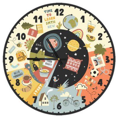 Часы настенные Расписание на сутки
