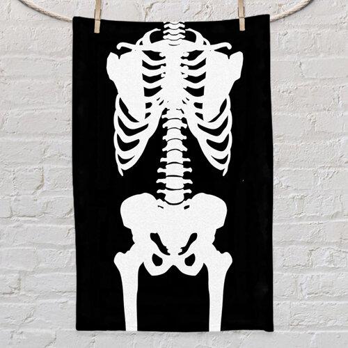 Полотенце маленькое с принтом «Скелет»