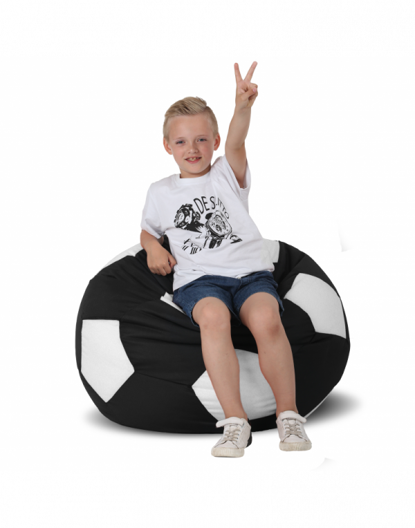 Кресло-мяч средний, черный с белым