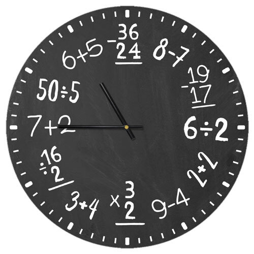 Часы настенные Математика
