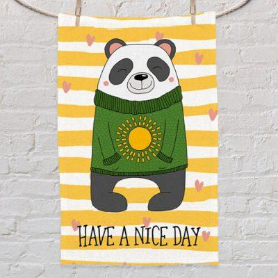 Полотенце маленькое с принтом «Have a nice day»