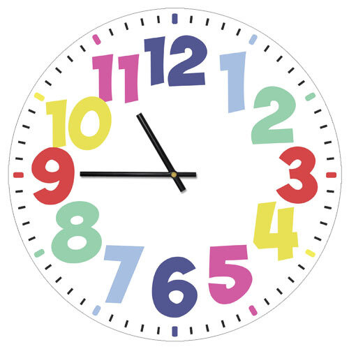 Часы настенные Разноцветные цифры