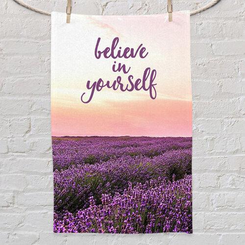 Полотенце маленькое с принтом « Believe in yourself»