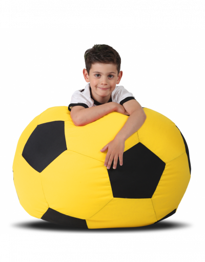 Кресло-мяч детский, желтый с черным