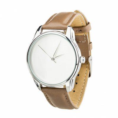 Часы наручные «Минимализм» серо - коричневый, серебро