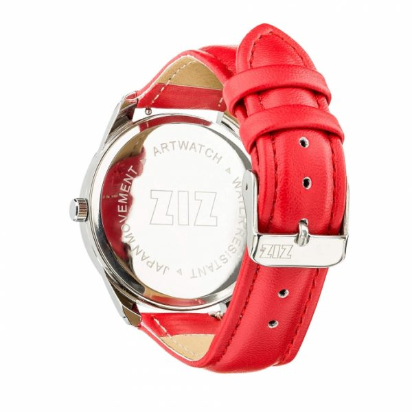 Часы наручные ZIZ «Единорог» маково - красный, серебро