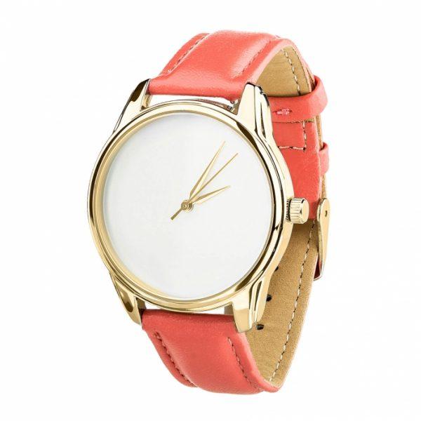 Часы наручные «Минимализм» клубнично - коралловый