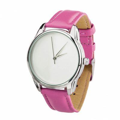 Часы наручные «Минимализм» малиновый, серебро