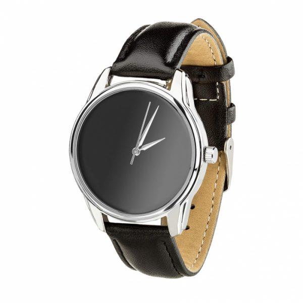 Часы наручные «Минимализм черный» насыщенно - черный