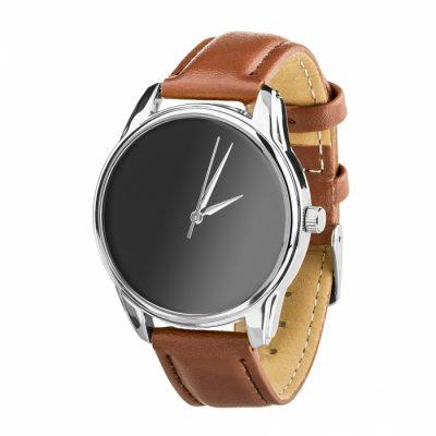 Часы наручные «Минимализм черный» кофейно - шоколадный