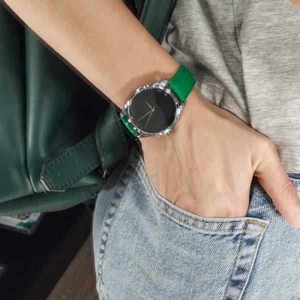 Часы наручные «Минимализм черный» изумрудно - зеленый