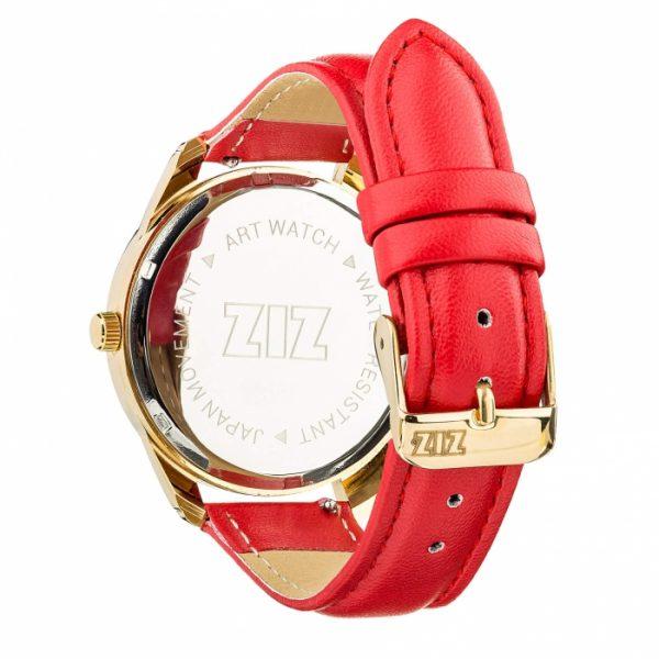 Часы наручные «Минимализм черный» маково - красный