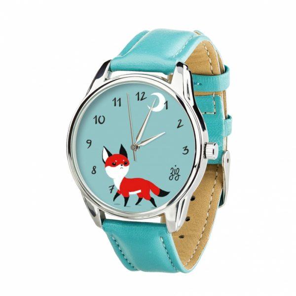 Часы наручные ZIZ « Маленький лис» небесно - голубой, серебро