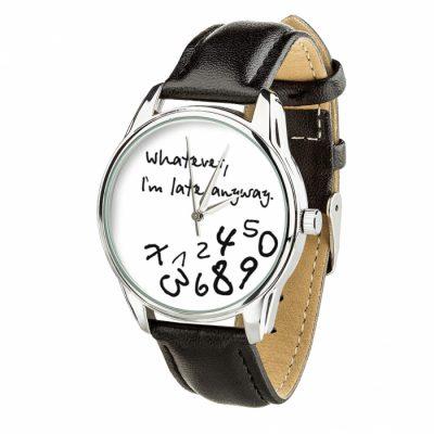 Часы наручные ZIZ « Late white» насыщенно - черный, серебро
