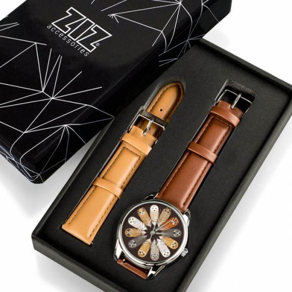 Часы наручные ZIZ «Совы» кофейно - шоколадный, серебро