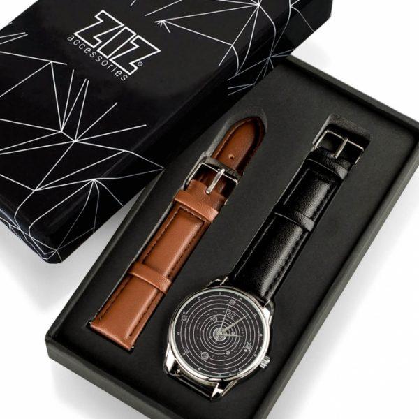 Часы наручные ZIZ «Планеты» насыщенно - черный, серебро