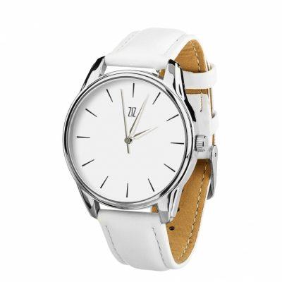 Часы наручные ZIZ «Черным по белому» кокосово - белый, серебро