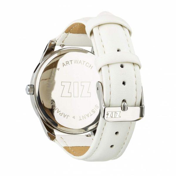 Часы наручные ZIZ «Выключи мир» кокосово - белый, серебро