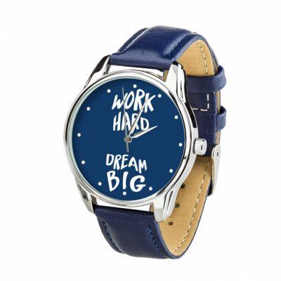 Часы наручные ZIZ «Мечтай Работай» ночная синь, серебро