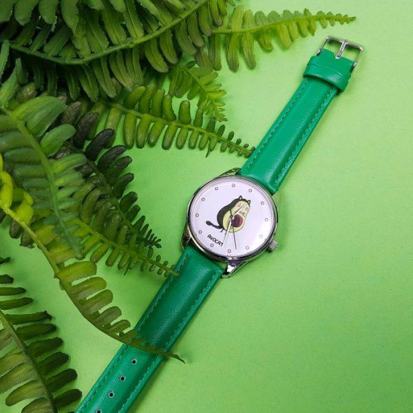 Часы наручные ZIZ «Авокот» изумрудно - зеленый, серебро