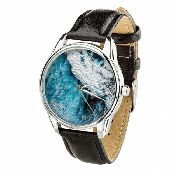 Часы наручные ZIZ «Океаническая волна» насыщенно - черный, серебро