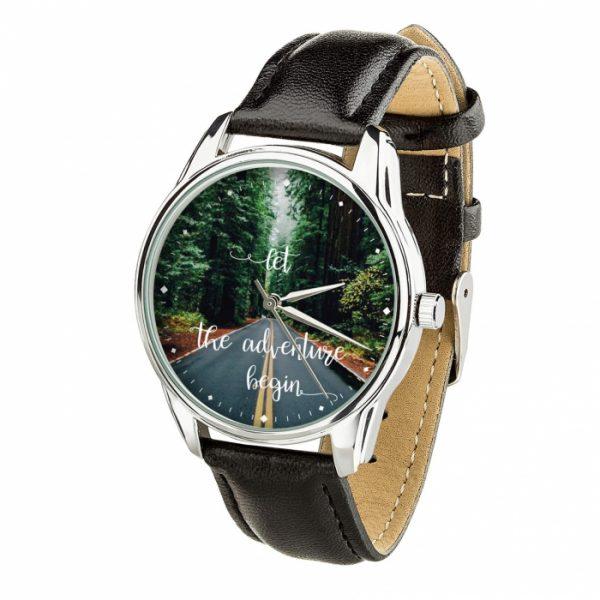 Часы наручные ZIZ «Начало приключений» насыщенно - черный, серебро