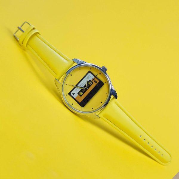 Часы наручные ZIZ «Кассета» лимонно - желтый, серебро