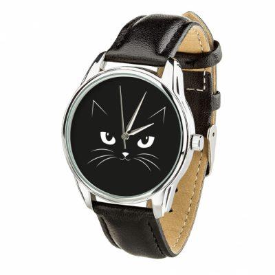 Часы наручные ZIZ «Кошачий» насыщенно - черный, серебро