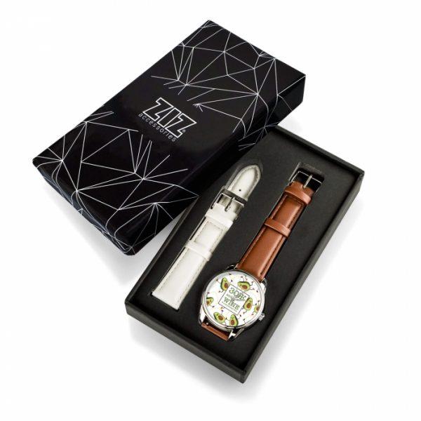 Часы наручные ZIZ «ЗОЖ» кофейно - шоколадный, серебро
