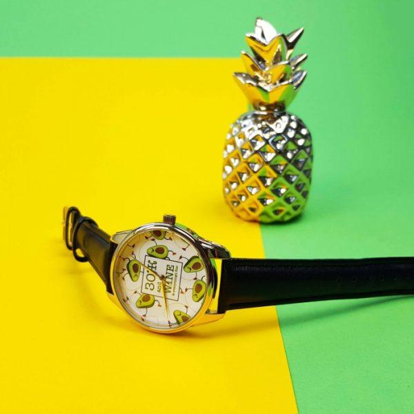 Часы наручные ZIZ «ЗОЖ» насыщенно - черный, золото