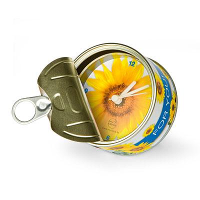 Часы в жестяной баночке «For you»