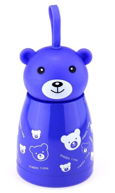Термос «Веселый мишка» 33 wishes (синий)