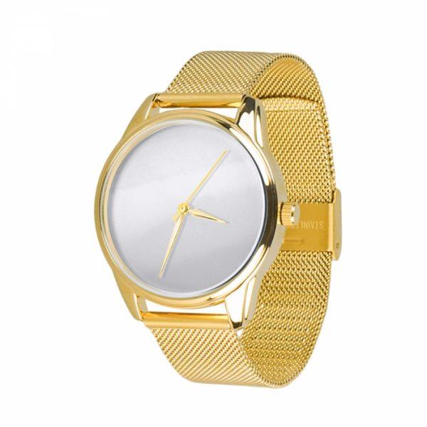 Часы наручные «Минимализм» золотой браслет, золото