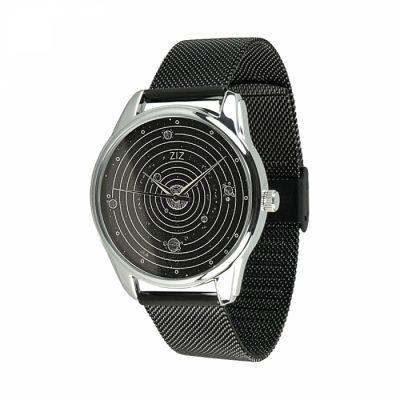 Часы наручные ZIZ «Планеты» нержавеющей стали черный