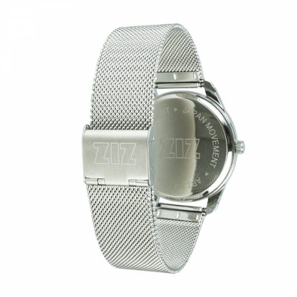 Часы наручные «Черным по белому» нержавеющей стали серебро