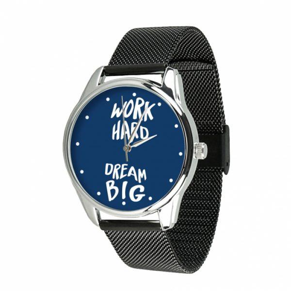 Часы наручные ZIZ «Мечтай Работай» нержавеющей стали черный