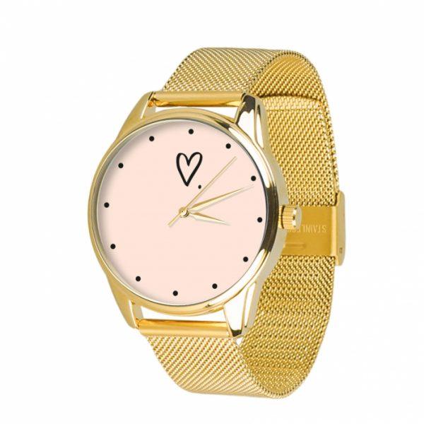 Часы наручные ZIZ «Сердечко» нержавеющей стали золото