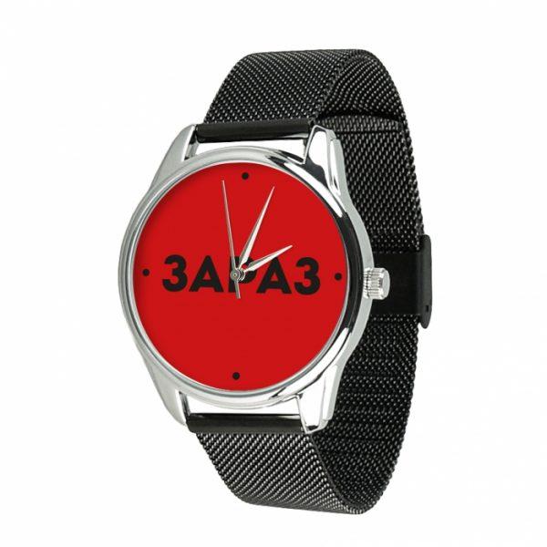 Часы наручные ZIZ «Зараз» нержавеющей стали черный