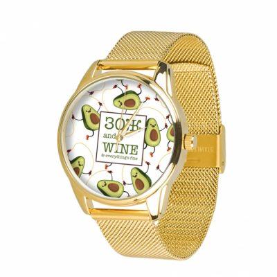 Часы наручные ZIZ «ЗОЖ» нержавеющей стали золото