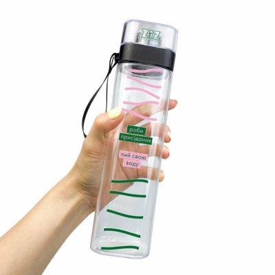 Бутылка для воды ZIZ «Пей и приседай»