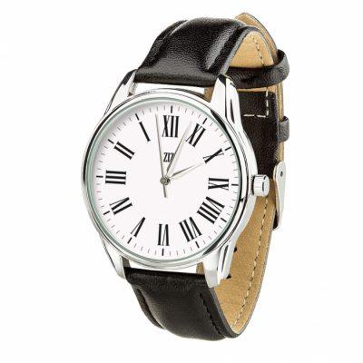 Часы наручные с обратным ходом «Возвращение» насыщенно - черный, серебро