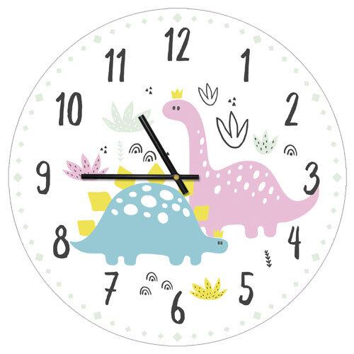 Часы настенные Динозаврики